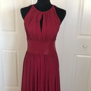 Red formal gown from JS Boutique